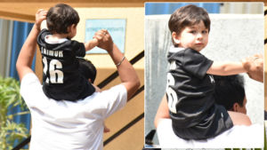 In Pics: Taimur is pumped up to play football with mamu Ranbir Kapoor
