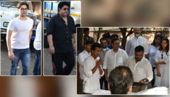 In Pics: Arbaaz Khan, Sajid Khan and other celebs attend designer Vikram Phadnis' mother's funeral