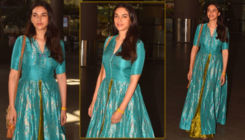 OOTD: Aditi Rao Hydari slays in a bluish green umbrella long choli lehenga
