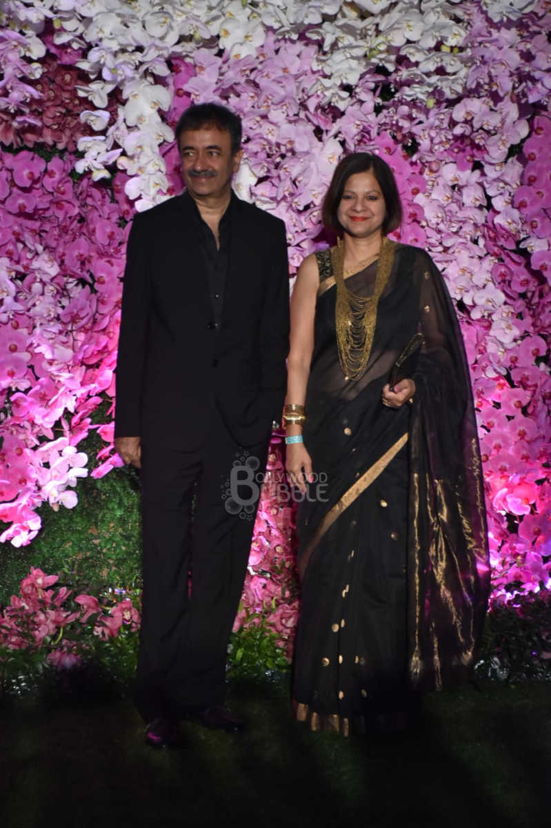 Rajkumar Hirani and wife
