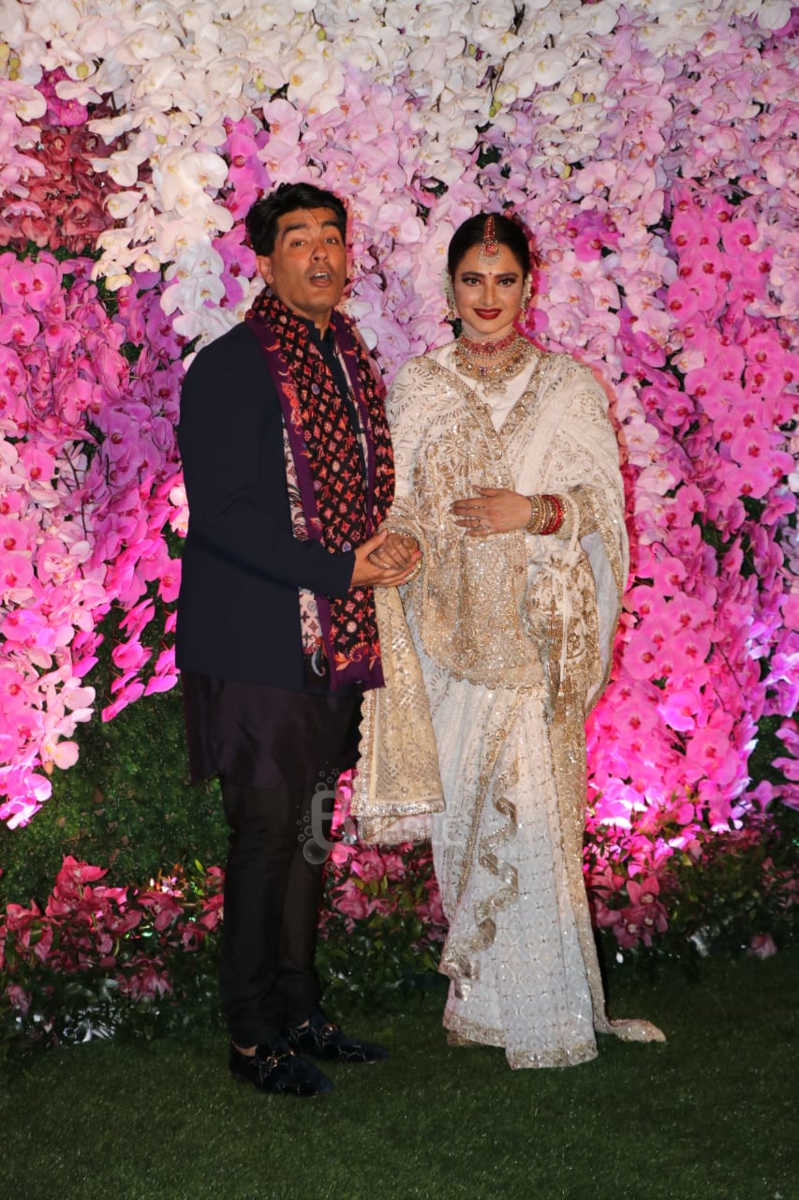 Manish Malhotra and Rekha