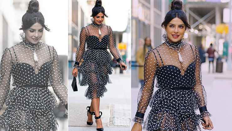 OOTD: Priyanka Chopra's stylish day out in a monochrome sheer outfit