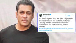 Salman Khan goofed up in his tweet while announcing 'Inshallah' - Here's proof!