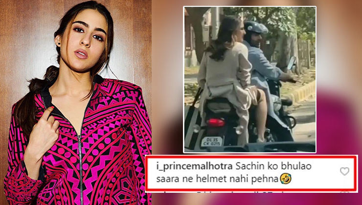 Sara Ali Khan trolled for not wearing helmet; Twitterati say,
