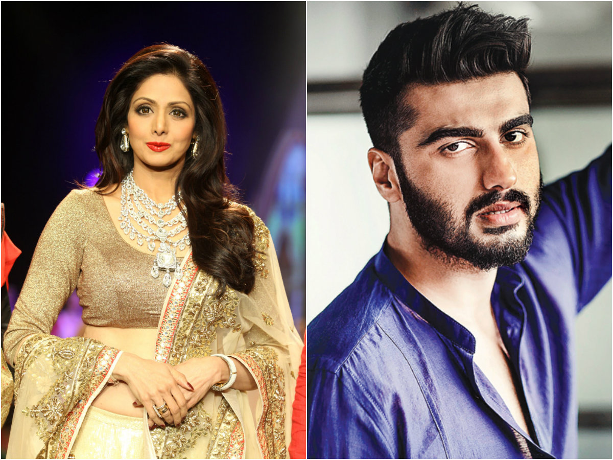 Sridevi and Arjun Kapoor