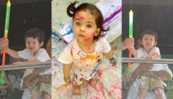 Cuteness Alert: Taimur and Inaaya enjoying Holi is a sight to behold - view pics