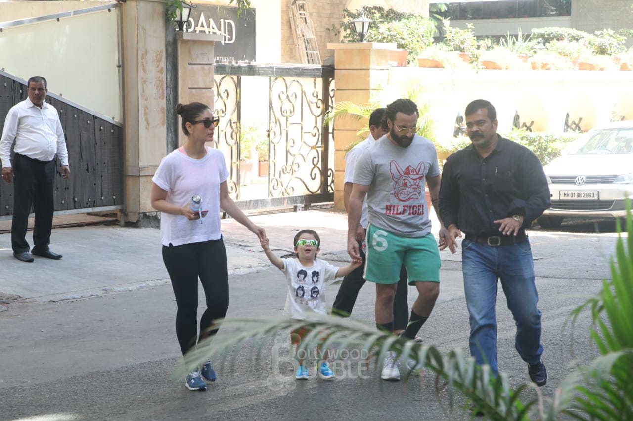 Saif Ali Khan, Kareena Kapoor and Taimur Ali Khan