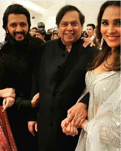 Rieish Deshmukh, Lara Dutta with David Dhawan