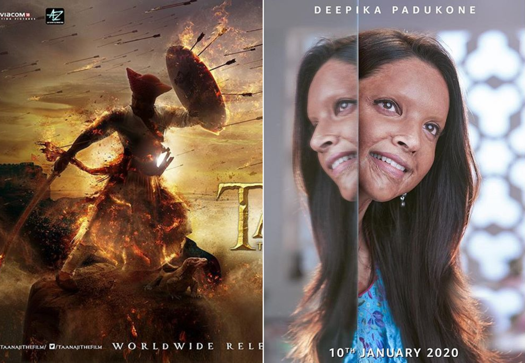 'Chhapaak' vs 'Tanhaji: The Unsung Warrior'
