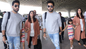 Airport Diaries: Aishwarya Rai-Abhishek Bachchan fly out for a family vacay with Aaradhya