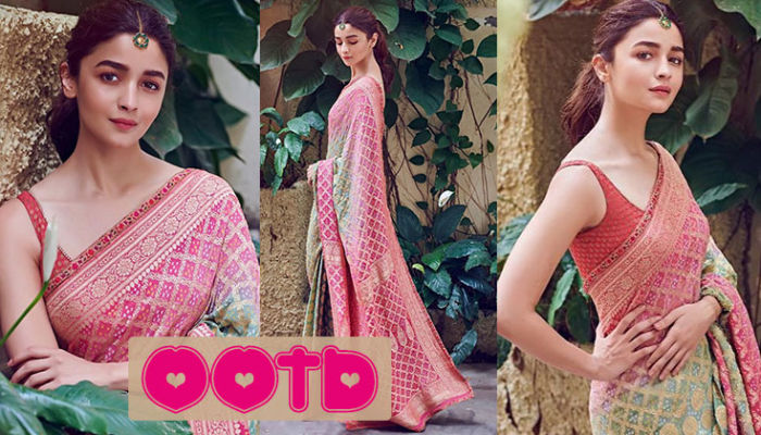 OOTD: Alia Bhatt nails the saree look with poise, grace and elegance