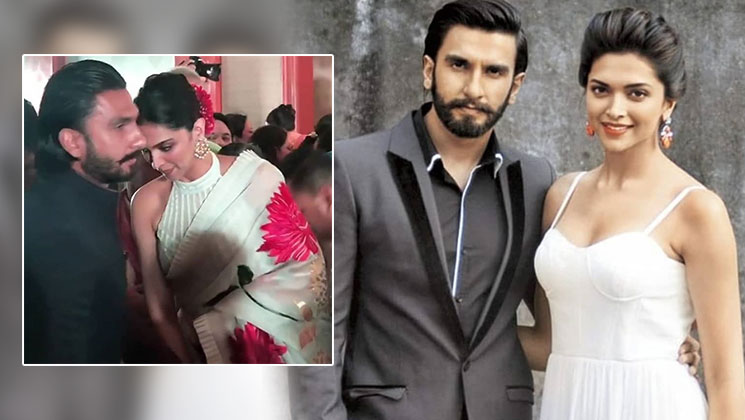 View pics and videos: Deepika Padukone and Ranveer Singh make a stunning couple as they attend a wedding