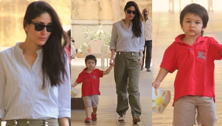 Kareena Kapoor is on mommy duties today! Picks up little Taimur from school - view pics