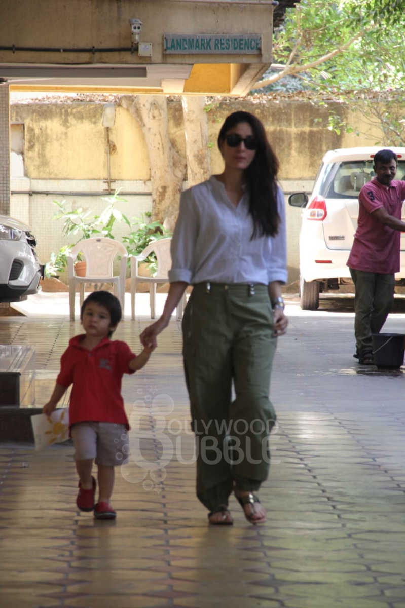 Kareena with her son