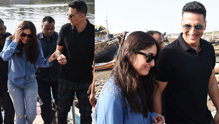 Spotted: What were Akshay Kumar and Kareena Kapoor doing at the Versova jetty? Find out!