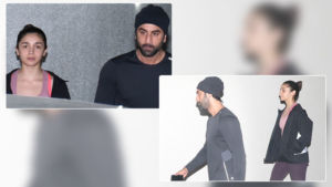In Pics: Twinning in black, lovebirds Ranbir Kapoor-Alia Bhatt catch up