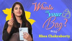 What's In Your Bag: Rhea Chakraborty's CRAZY personal possessions revealed