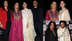 Shabana Azmi and Alia Bhatt grace the special screening of 'No Fathers in Kashmir' with their families