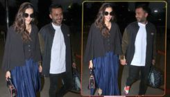Airport Diaries: Sonam Kapoor and Anand Ahuja are all smiles as they walk hand-in-hand
