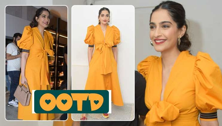 Sonam Kapoor looks like a fresh daffodil in this mustard yellow dress