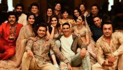 Akshay Kumar joins the cast of 'Housefull 4' for a candid picture on a throne full of skulls