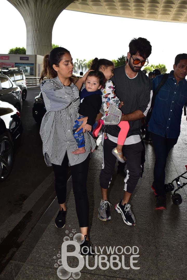 Shahid Kapoor with his wife Mira Rajput