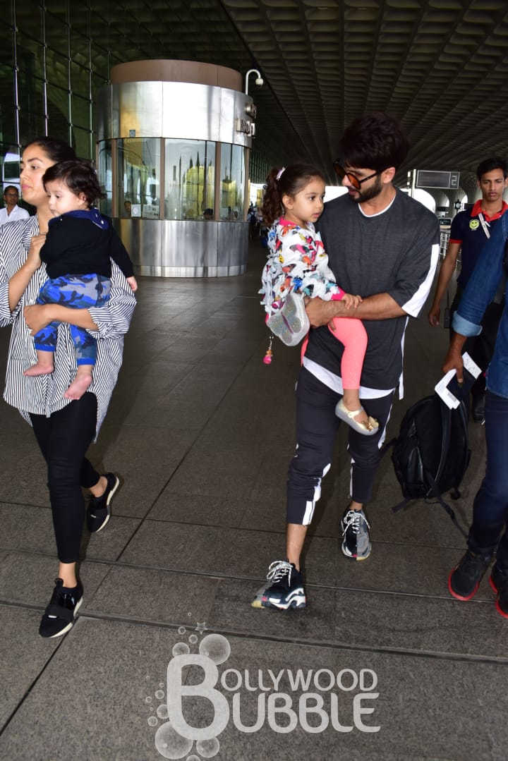 Shahid and Mira with their cutie pies