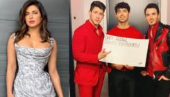 Priyanka Chopra cheers for the Jonas Brothers during their Saturday Night Live performance