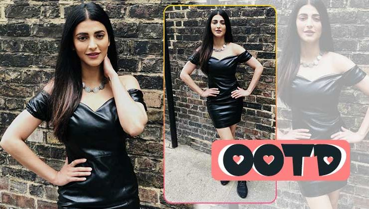 In Pics: Shruti Haasan shows how to rock a black leather outfit to the core