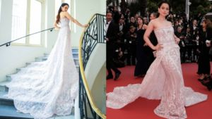 Kangana is literally looking like a princess straight out of a fairytale. Trust her to amaze you with her fashion choices or her work, Kangana never disappoints.