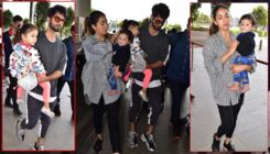 Shahid Kapoor and Mira Rajput leave for Singapore with kids - view pics