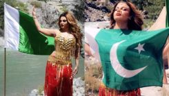 Rakhi Sawant leaves everyone confused by posing with a Pakistani flag