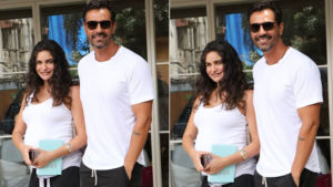 Arjun Rampal and pregnant GF Gabriella Demetriades go twinning on their lunch date
