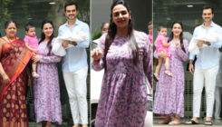 Esha Deol's newborn daughter Miraya's first pictures outside the hospital