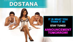 Karan Johar to make a big announcement tomorrow; is it 'Dostana 2'?