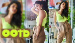 Kiara Advani channels her inner sunshine in a neon top and a high waist pant