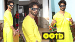 Shahid Kapoor looks wedding ready in a lemony yellow kurta