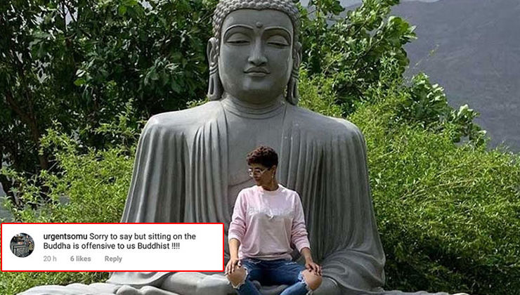 Tahira Kashyap BLASTED for sitting on Lord Buddha's lap; apologises later and deletes picture