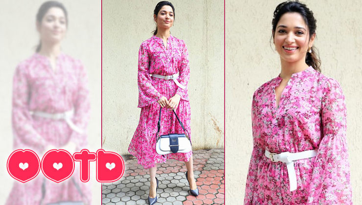 Tamannaah Bhatia slays in a pretty floral print ensemble