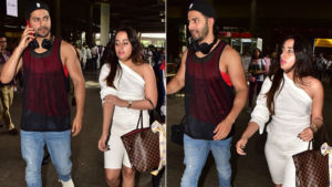 Lovebirds Varun Dhawan and Natasha Dalal keep it casual as they walk out of the airport