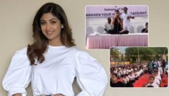 International Yoga Day: Shilpa Shetty celebrates the occasion by performing yoga on stage