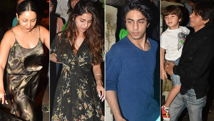 'The Lion King': Shah Rukh Khan takes AbRam, Aryan, Suhana on a movie date