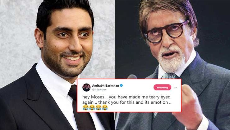 Amitabh Bachchan gets teary-eyed again after watching a nostalgia video of Abhishek shared by his fan