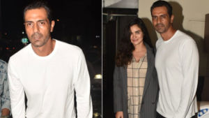 Arjun Rampal with girlfriend Gabriella on a romantic dinner date