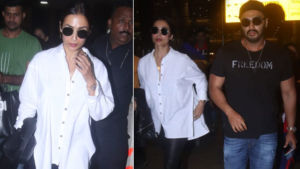 Lovebirds Arjun Kapoor and Malaika Arora return to Mumbai after New York vacay
