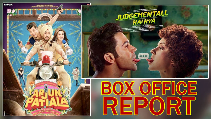 Box Office Reports: 'Judgementall Hai Kya's weekend collection witnesses a jump, 'Arjun Patiala' struggles