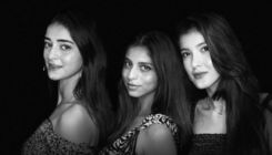 'Charlie's Angels' Ananya Panday, Suhana Khan and Shanaya Kapoor pose for Shah Rukh Khan