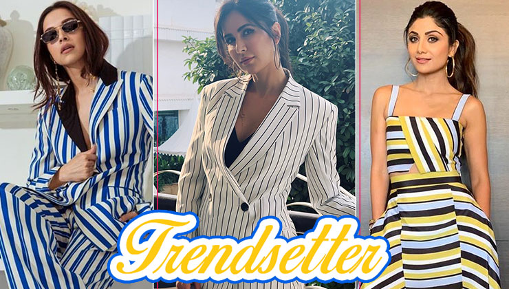 Love wearing Stripes? Keep this Katrina Kaif, Deepika Padukone and Shilpa Shetty lookbook handy