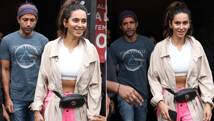 Daring the Mumbai rains, lovebirds Farhan Akhtar-Shibani Dandekar step out for a lunch date