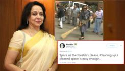 Hema Malini's sweeping video goes viral; Twitterati has the funniest things to say